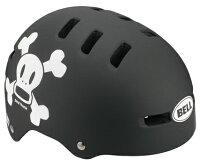 BELLFRACTION(ベルフラクション)マットブラック/ホワイトポールフランクスカルXS802560キッズ・子供用ヘルメット【クレジットOK!セール期間限定】