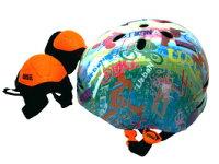 ラングスジュニアスポーツヘルメットレインボーひじ・ひざ用のパッド付き108398【クレジットOK!セール期間限定】幼児キッズヘルメットラングスジャパン