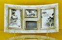結婚祝い ゴールデンローズガラス フォトフレーム 4ウィンドウ ホワイト インテリア写真立て通販【取寄品】【バースデー 誕生日ギフト】【結婚祝い】【プレゼント】ベルコモン 【のし利用可】