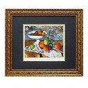 取寄品 ポール セザンヌ 果物ナイフのある静物 額付きポスター インテリアアート 名画 印象派