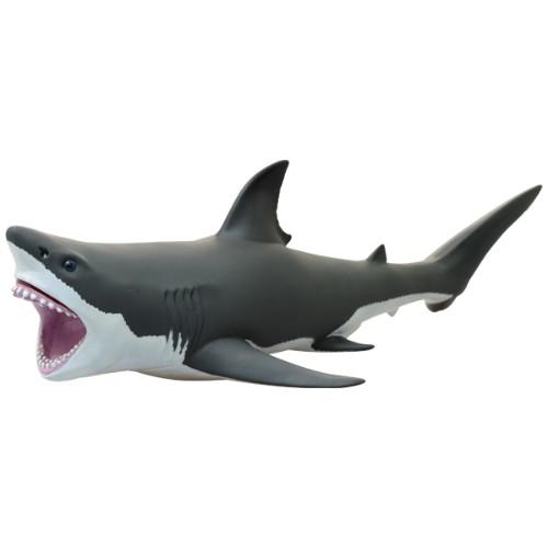 ビッグサイズフィギュア ソフトビニールモデル ホオジロザメ 海洋生物グッズベルコモン