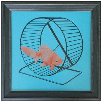 有工業風格室內裝飾藝術Jason Laurits Goldfish美工公司31.6*31.6cm墻壁裝飾額頭的郵購鈴一般