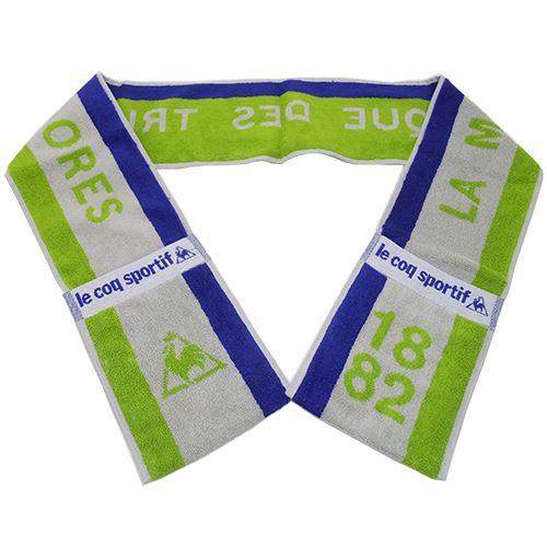 ポケット付きマフラータオルスリムロングタオルlecoqsportifルコックスポルティフlecoq004ナストーコーポレーション16×150cmスポーツタオルスポーツブランド通販