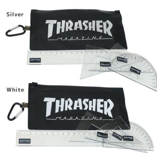 ケース入り定規セットものさしTHRASHERスラッシャーVol3サカモト三角定規2ヶ直定規分度器スケートボーダースポーツブランドメール便可