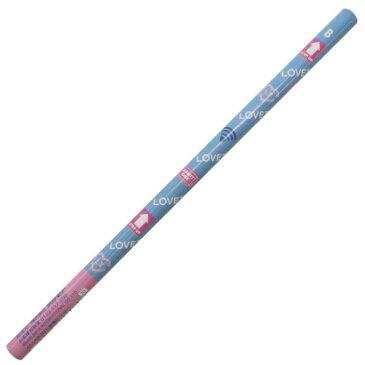 丸軸 えんぴつ B ラブトキシック 鉛筆 ブルー LOVETOXIC サカモト 新学期 雑貨 文具 ジュニアブランド メール便可