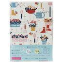 TomokoHayashiダイアリー日記帳Gardeningクローズピン文具ギフト雑貨ガーリーイラスト通販【メール便可】