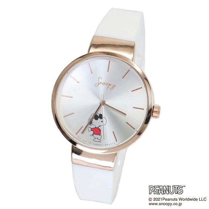ワンカラー ラバー ウォッチ 腕時計 スヌーピー ホワイト ピーナッツ フィールドワーク レディース 女性 かわいい プレゼント ギフト 学生