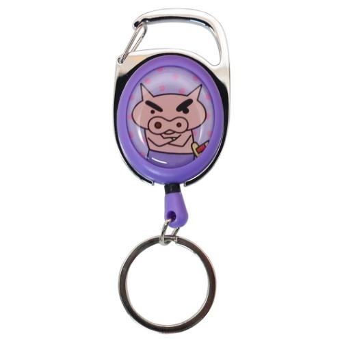 產品詳細資料,日本Yahoo代標|日本代購|日本批發-ibuy99|包包、服飾|包|箱包配件|伸びるキーリング キャラ リールキーホルダー クレヨンしんちゃん ぶりぶりざえもん ティーズファク…
