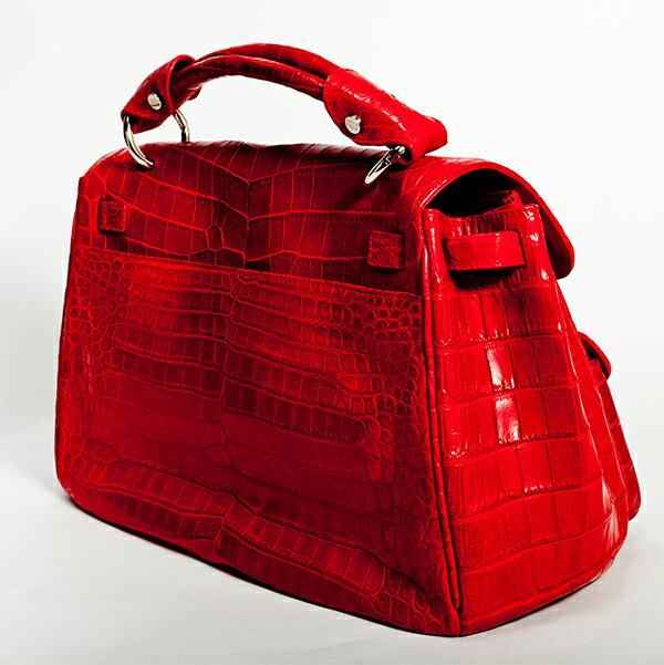 【Romeo】 ロメオ レディース バック【赤色 鞄 かばん アウトレット SALL バック ワニ革】