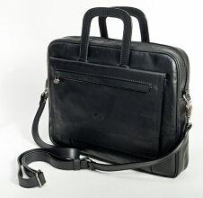 【llkuoio】イタリア直輸入ハンドメイド本革ナチュラルレザービジネスバックIlKuoio8003ブラック(黒)