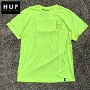 新作【あす楽】HUF(ハフ) バックロゴTシャツ【NEON YELLOW/ネオン/蛍光イエロー】アメカジ ストリート TS01026