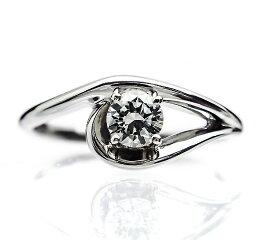 K18WG【0.3ct】ダイヤモンドブライダルリング