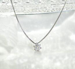 一粒ダイヤモンドネックレス0.1ctUPPt900(プラチナ)