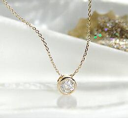 【楽天市場】K18WG/YG/PGダイヤモンドネックレス0.1カラットH