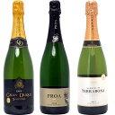 【送料無料】すべて本格シャンパン製法の豪華泡3本セット ワインセット スパークリング ^W0GR21SE^