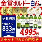 ▽2セット800円引 送料無料ワイン 白ワインセットすべて金賞ボルドー辛口白激旨6本セット^W0WK53SE^