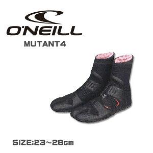 2015/16O'NEILL【オニール】MUTANT4サーフブーツ4mm先割れ日本人足型仕様!ミュータント4