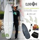 スターターお得6点セット!CLOVER(クローバー)SURFBOARDSSBショートボード素材/PUフィン付き初〜中級者向け!