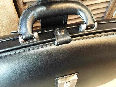 【青木鞄LUGGAGEAOKI1894(ラゲッジアオキ1894)Genuius/ジーニアス】ヘビーレタン仕上げ牛ヌメ革・口枠式レザーブリーフケース/ダレスバッグ(2558)メンズ