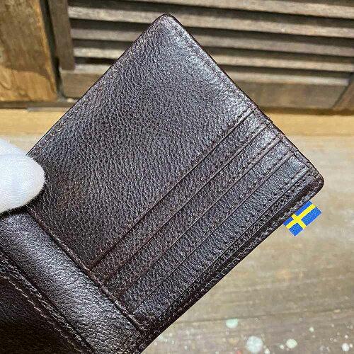 【moz(モズ)】『SOLID/ソリッド』ロゴ箔押し・シボ牛革レザー二つ折り財布(86110)メンズ【レザーバッグ革財布専門店Vertigo/ヴァーティゴ】
