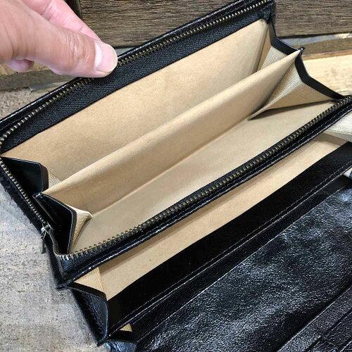 【国産・サンレミー(SunRemy)】『WASHEDPYTHON/ウォッシュドパイソン』オイル&ウォッシュ加工パイソンレザー/ヘビ革長財布※外ファスナーポケット&コインケース付き(71301)メンズ/レディース