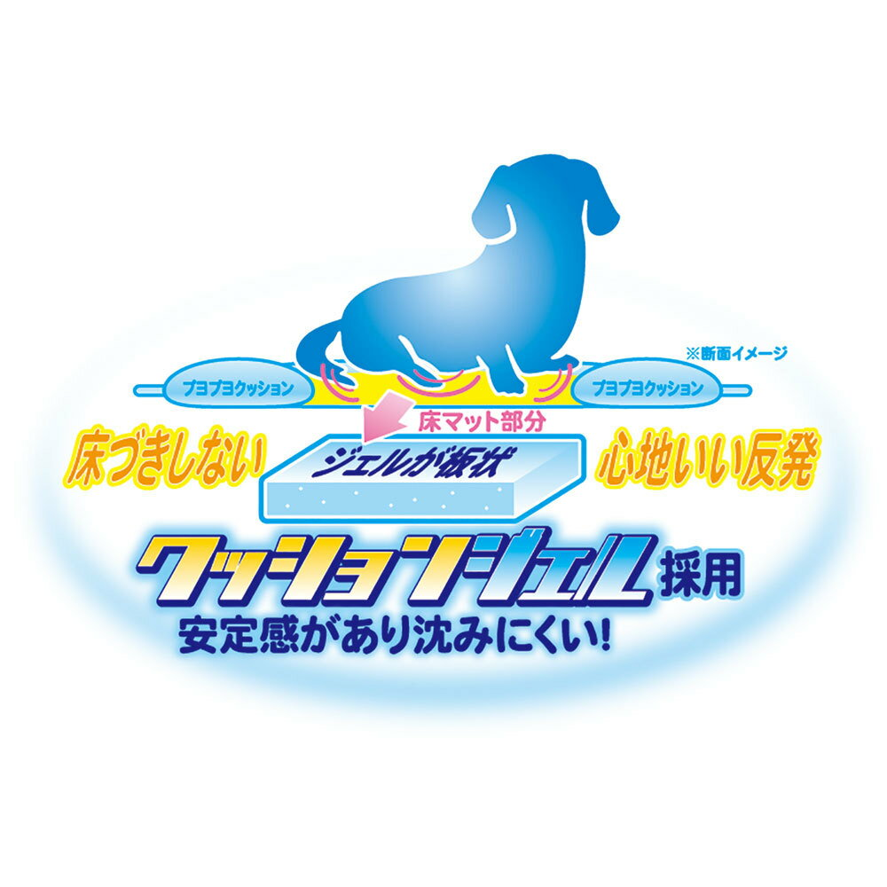 ペッツルート ひえひえクッションジェルベッド 抗菌S ブルー【在庫限り】【あす楽】