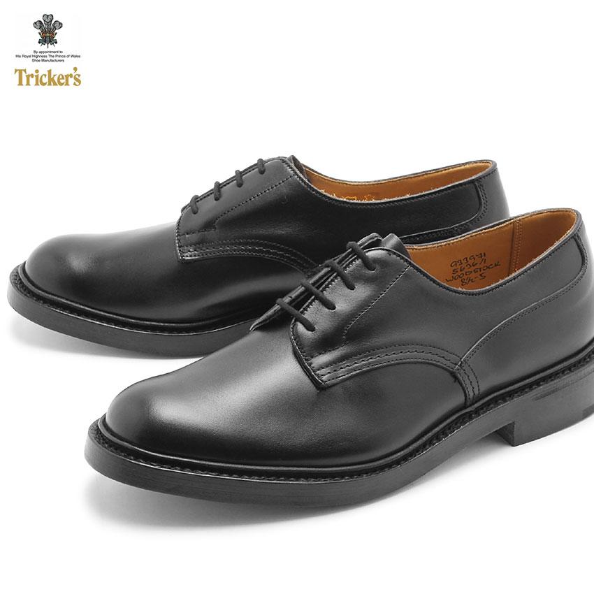 トリッカーズ(TRICKER'S)(TRICKERS) ウッドストック ダブルレザーソール ブラックカーフ (TRICKER'S 5636 1 COUNTRY WOODSTOCK) カジュアルシューズ 革靴 メンズ(男性用):VIA TORINO インポートブランド