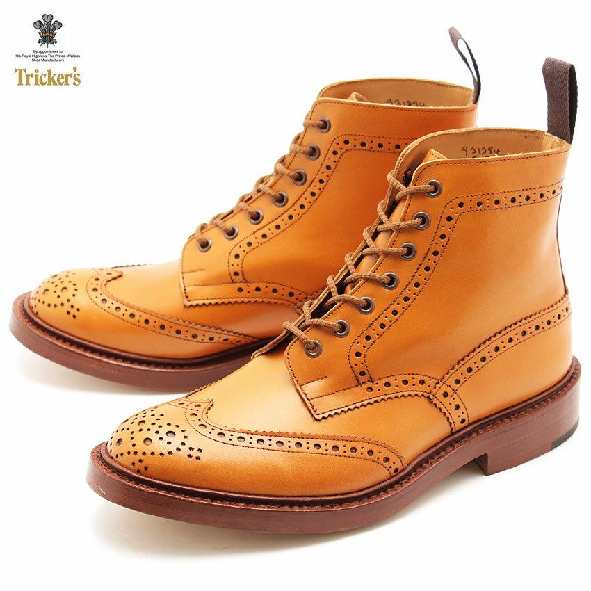 トリッカーズ(TRICKER'S)(TRICKERS) ストウ ダブルレザーソール エイコーンアンティーク(TRICKER'S 5634 2 BROGUE BOOTS STOW) カントリー ブーツ メンズ(男性用):VIA TORINO インポートブランド