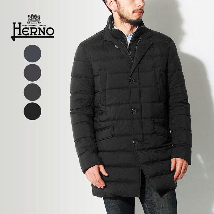 送料無料★HERNO ヘルノ ジャケット ダウン コート ブラック 他全4色DOWN JACKET PI0374U-19288 8993 9225 9200 9300アウター トップス ジップアップ ボタン 黒メンズ