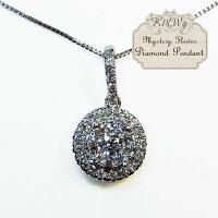 【送料無料】K18WGダイヤペンダントD0.35ct神秘的に輝くダイヤモンド18金ホワイトゴールド【】