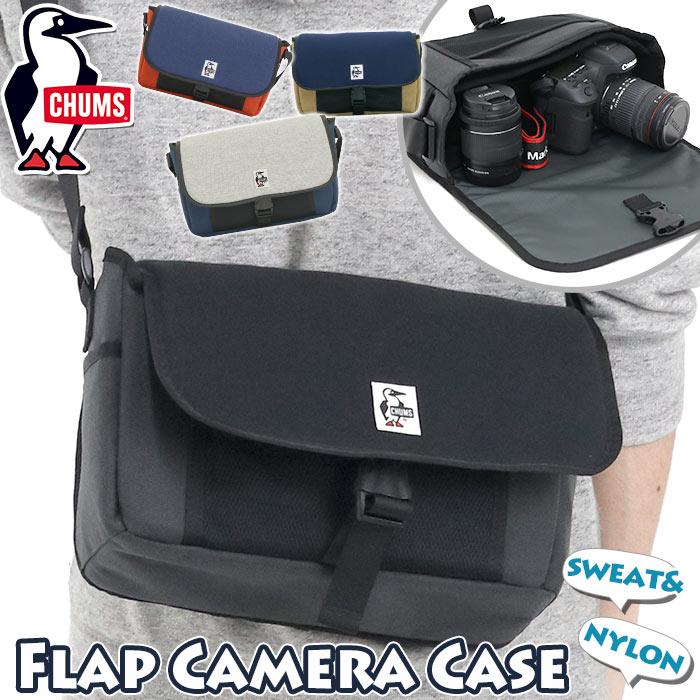 メンズバッグ, ショルダーバッグ・メッセンジャーバッグ  CHUMS SWEATNYLON Flap Camera Case Sweat Nylon CH60-2928