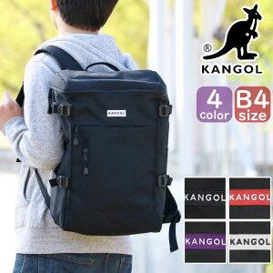 リュック カンゴール KANGOL リュックサック デイパック バックパック バッグ スクエアリュック ボックス型 メンズ 通学 通学用 通勤 人気 かわいい リュック ブラック A4 B4 Hello 250-1251