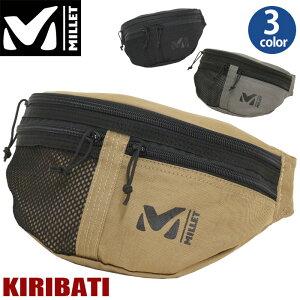 MILLET ミレー KIRIBATI キリバチ ウエストバッグ 正規品 メンズ 男性 男の子 ボディバッグ ウエストポーチ 小さめ バッグ ワンショルダー ヒップバッグ 軽量 丈夫 軽い ランニング ジョギング ヨコ型 シンプル MIS0551