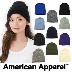 AMERICAN APPAREL アメリカンアパレル ニット帽 ニットキャップ 帽子 アクリル ライナー ビーニー レディース アメアパ ロゴ