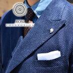 ROSI ポケットチーフ リネン 春夏 白 ホワイト イタリア製 ロージ チーフ ハンカチ メンズ ROSI&GHEZZI