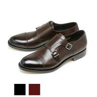 サントーニ/ダブルモンクストラップ/レザーシューズ/紳士靴/ビジネス/SANTONI/イタリア製/