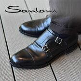 サントーニ ダブルモンク ストラップ レザーシューズ 紳士靴 靴 ビジネス SANTONI イタリア製 メンズ グッドイヤー OSCAR 革靴 【送料無料】【レ1000】【あす楽対応】