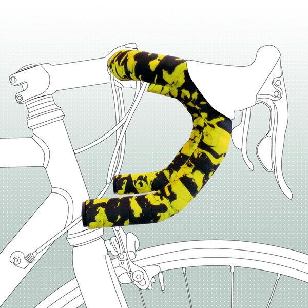 バイクリボン BIKERIBBON コルクプラス マルチカラー GR/BK [バーテープ][ロードバイク][ロングライド向け][RACE EASY][自転車][BR-CP24][8/3 13:59まで ポイント2倍]