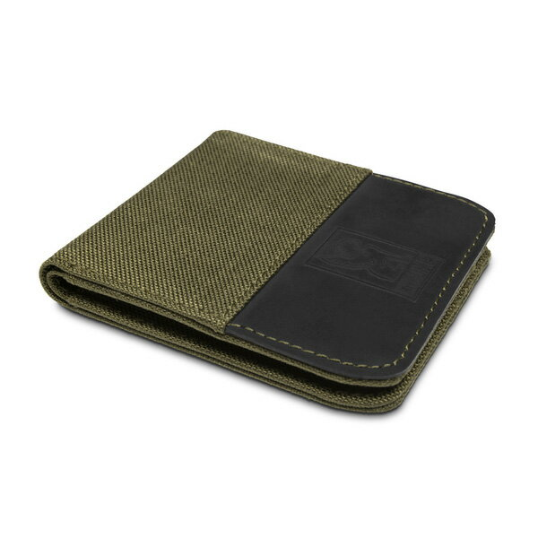 CHROME NYLON BIFOLD WALLET