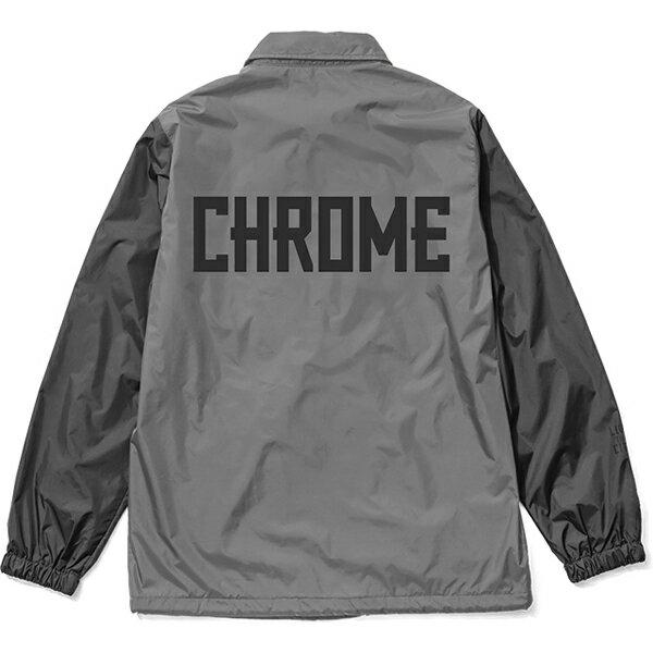 クローム CHROME LOGO COACH JACKET Grey/Black
