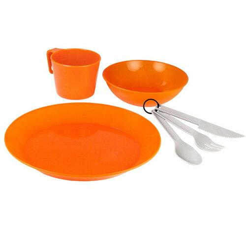 GSI カスケーディアン 1人用テーブルセット オレンジ [カトラリーセット][アウトドア用食器セット][テーブルウェア][8/16 13:59まで ポイント10倍]
