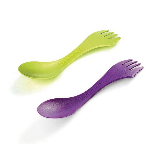 ライトマイファイヤー LIGHT MY FIRE スポーク2パック Lime&Purple [スプーン][フォーク][ナイフ][簡易カトラリー][8/16 13:59まで ポイント2倍]