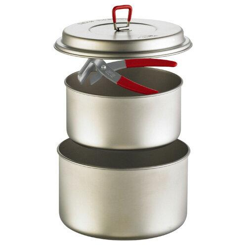 MSR TITAN 2POT SET [チタンツーポットセット][クッカーセット][調理器具][キャンプ用食器][チタン鍋][8/10 13:59まで ポイント3倍]