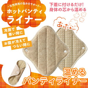 【送料無料】ホットパンティライナー2枚冷え対策冷え症布ナプキン冷房子宮温めるグッズオーラ蓄熱繊維