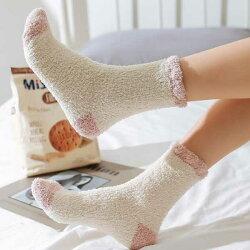 靴下冬モコモコルームソックス
