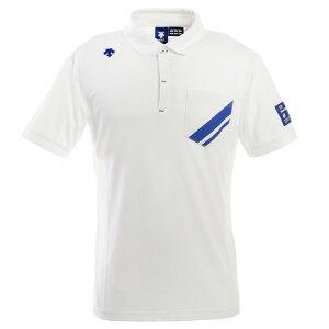 デサントゴルフ(DESCENTEGOLF) ゴルフ ポロシャツ メンズ ライジングプリントシャドーボーダーシャツ DGMPJA34-WH00 (Men's)