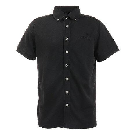 キャスコ(KASCO) 【キャスコ限定】 ゴルフウエア メンズ フルボタンシャツ DPS1869B-BLKメンズ 半袖 オンライン価格 (メンズ)