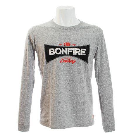 トップス, Tシャツ・カットソー Bonfire EMBLEM T 10BNF8CD2020 GRY Mens
