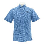 PG 【店頭展開による多少の汚れ有で大特価、売り切れご容赦!】総柄ポロシャツ PGTF1704-BLU (Men's)