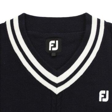 フットジョイ(FootJoy) Vネック ケーブルニットベスト FJ-F18-M03 85931NV (Men's)